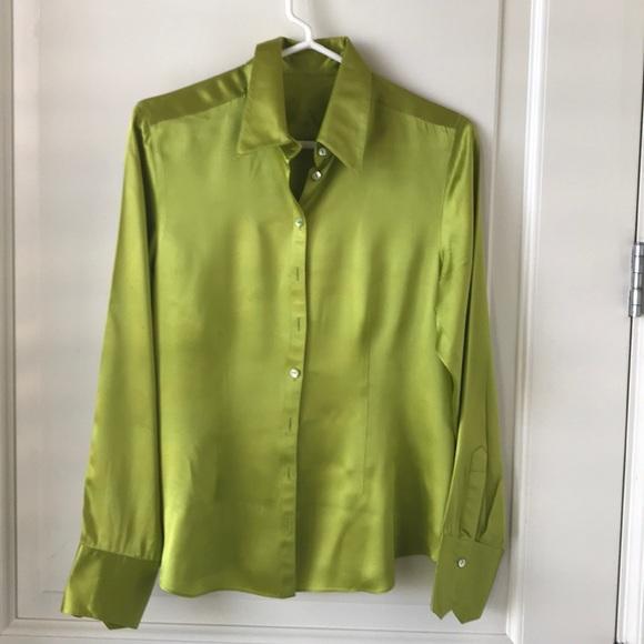 8fd1a82fe204d Fabulous chartreuse silk blouse! M 5a639f352c705d0fc1d37c6c